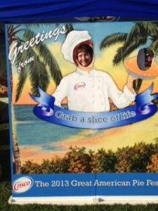 That's me in my pie baker suit.