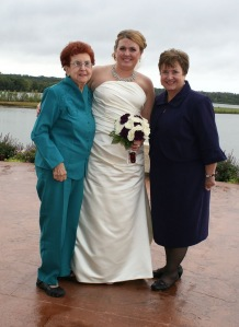 Mom, Leslie and Barb wedding
