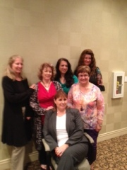 Seated: Rhonda Penders. From left: CallieLynn Wolfe, Frances Sevilla, fellow TWRP authors, Brenda Sparks and  , and me.