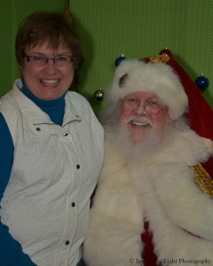 Me with the Sioux Falls Santa, Lyle Kroon. Photo courtesy of IgniteTheLightPhoto.Jimdo.com