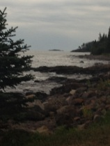 Lake Superior as seen from the back of our rental.